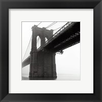 Brooklyn Bridge Fog Framed Print