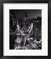 New York, New York, Flatiron Building at Night Framed Print