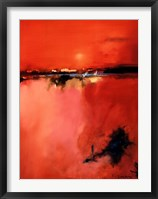 Orange Horizon Framed Print