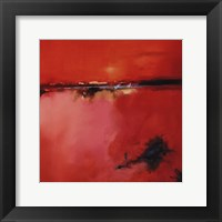 Orange Horizon - square Framed Print