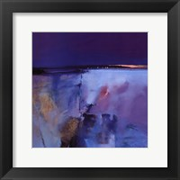 Blue Horizon - square Framed Print