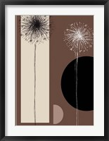 Framed Black and White Dandelions