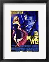 Framed La Dolce Vita Federico Fellini
