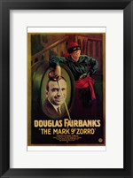 Framed Mark of Zorro Douglas Fairbanks