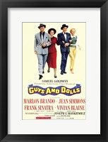 Framed Guys and Dolls Brando Simmons Sinatra Blaine