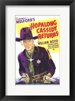 Framed Hopalong Cassidy Returns