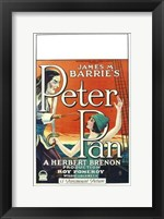 Framed Peter Pan Book by James M. Barrie