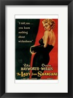 Framed Lady from Shanghai, c.1948