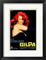 Framed Gilda Red Hair
