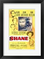 Framed Shane George Stevens Alan Ladd Jean Arthur Van Heflin