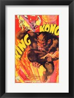Framed King Kong Smashing