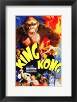 Framed King Kong Movie Poster