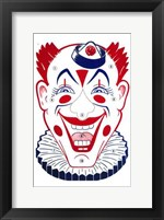 Framed Clown Face