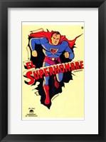 Framed Superman Vintage