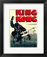 Framed King Kong on top of Empire State Building