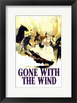 Framed Gone with the Wind - Running
