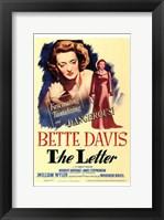 Framed Letter Bette Davis