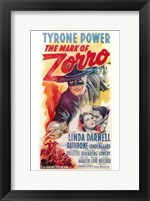 Framed Mark of Zorro Tyrone Power