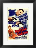 Framed Maltese Falcon Bogart Astor