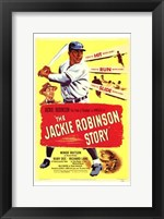 Framed Jackie Robinson Story