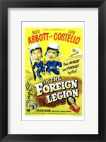 Framed Abbott and Costello in the Foreign Legion, c.1950