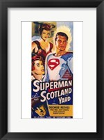 Framed Superman in Scotland Yard