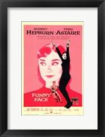 Framed Funny Face Audrey Hepburn