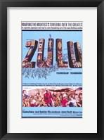 Framed Zulu Baker And Hawkins