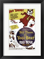 Framed Hey There It's Yogi Bear Butler And Messick