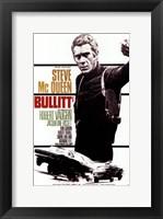 Framed Bullitt Steve McQueen