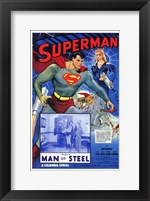 Framed Superman Man of Steel