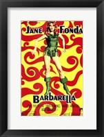 Framed Barbarella Jane Fonda Psychedelic