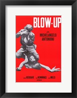 Framed Blow Up Red Michelangelo Antonioni