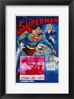 Framed Superman Comes to Earth