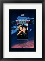 Framed Top Gun Fighter Jet & Tom Cruise