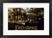 Framed Lord of the Rings: Fellowship of the Ring Collage
