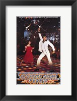 Framed Saturday Night Fever (The Bee Gees)