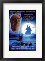Framed Lawrence of Arabia 40th Anniversary