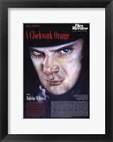 Framed Clockwork Orange Macolm McDowell