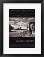 Framed What's Eating Gilbert Grape - black and white