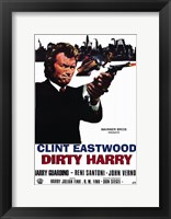 Framed Dirty Harry Clint Eastwood