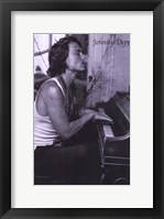 Framed Johnny Depp Playing Piano