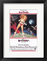 Framed Barbarella On the Moon