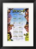 Framed Shrek 2 Calendar 2004