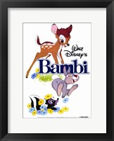 Framed Bambi Thumper Flower