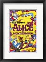 Framed Alice in Wonderland Mad Hatter