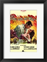 Framed Gone with the Wind Yellow Border