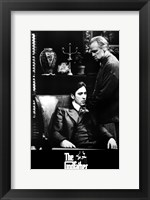 Framed Godfather B&W Scene