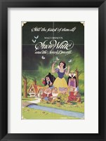Framed Snow White and the Seven Dwarfs with Apple