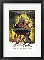 Framed Jungle Book Mowgli on Aztec Throne